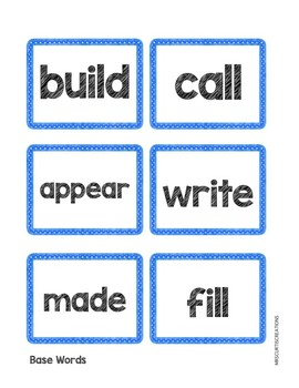 Prefix and Suffix Activity (Beginning to End)