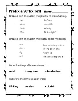 how to teach suffixes to 2nd graders