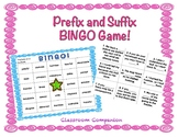Prefix and Suffix Bingo Activity! Great IREAD Practice!