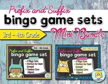 Prefix and Suffix Bingo Game Bundle