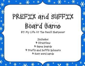 Prefix and Suffix Board Game