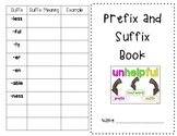 Prefix and Suffix Book