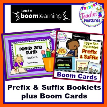 Boom Cards Suffixes and Prefixes : Reading & Decoding