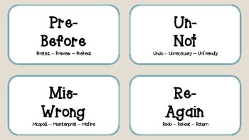 Prefix and Suffix Bundle!