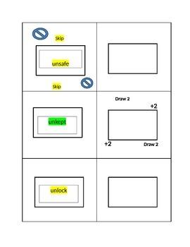 Prefix and Suffix Card Game