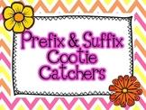 Prefix and Suffix Cootie Catchers {Fortune Tellers}