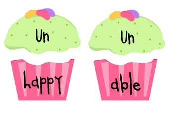 Prefix and Suffix Cupcakes