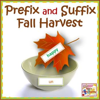 Prefixes and Suffixes Fall Harvest