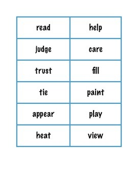 Prefix and Suffix File Folder Game