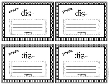 Prefix and Suffix Flap Books