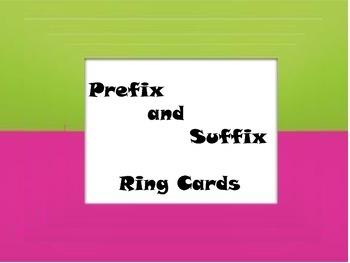Prefix and Suffix Flash Cards