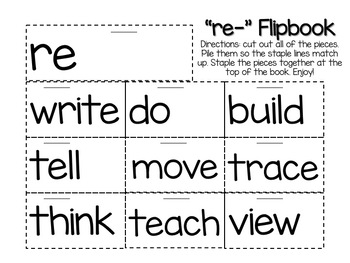 Prefix and Suffix Flipbook