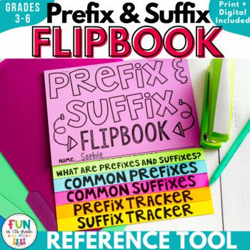 Prefix and Suffix Flipbook Activity {Editable}