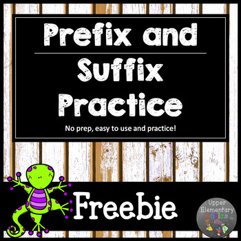 Prefix and Suffix Worksheets