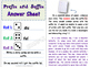 Prefix and Suffix Game: Roll and Write