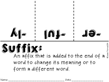 Prefix and Suffix (Games, Stations, Foldables)