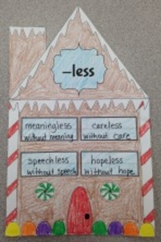 Prefix and Suffix Gingerbread Houses