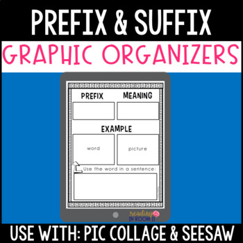 Prefix and Suffix Graphic Organizers for PicCollage and Seesaw