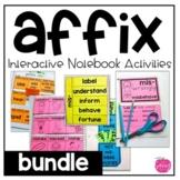 Prefix and Suffix Interactive Notebook Activities: The Bundle