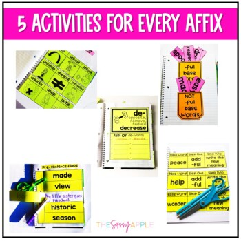 Prefix and Suffix Interactive Notebook Activities: The Bundle