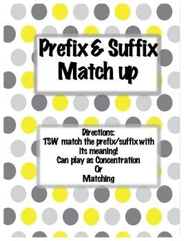 Prefix and Suffix Match Up