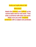 Prefix and Suffix Matching Card Game