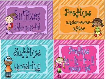 Prefix and Suffix Mega Bundle PowerPoints & Printables
