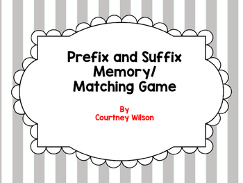 Prefix and Suffix Memory