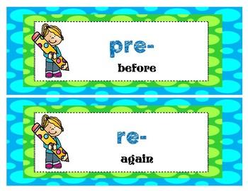 Prefix and Suffix Mini-Posters