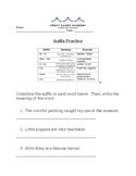 Prefix and Suffix NWEA Prep