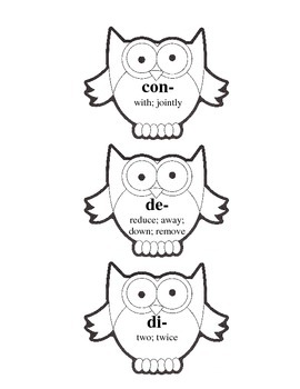 Prefix and Suffix Owls