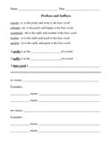 Prefix and Suffix Pack: Practice, Review, Quizzes, Test