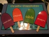 Prefix and Suffix Popsicles