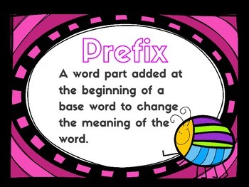 Prefix and Suffix Posters and Cards!