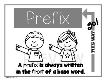Prefix and Suffix Poster Set (with Interactive Notebook Option)