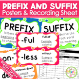 Prefixes & Suffixes Posters and Worksheet - Distance Learning Digital Option Inc
