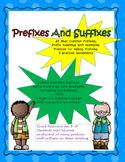 Prefix and Suffix Practice