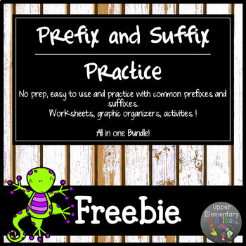 Distance Learning Prefix and Suffix Worksheet Practice Bundle
