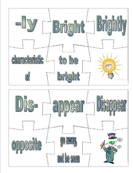 Prefix and Suffix Puzzle Bundle