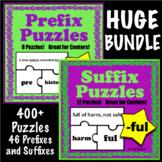 Prefix and Suffix Puzzles BUNDLE