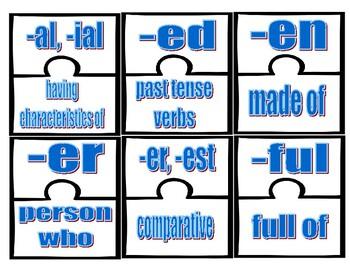Prefix and Suffix Puzzles Level 1