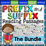 Prefix and Suffix Reading Comprehension Passages and Questions: The Bundle