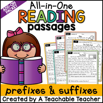 Prefix and Suffix Reading Passages ~ All-in-One