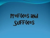 Prefix and Suffix Review