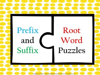 Prefix and Suffix     Root Word Puzzles