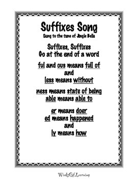 Prefix and Suffix Songs