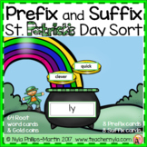 Prefix and Suffix St. Patrick's Day Matching to Root Word
