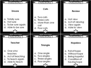 Prefix and Suffix Task Cards (48 Must Know Affixes!)