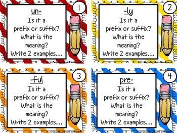 Prefix and Suffix Task Cards {CCSS Aligned}