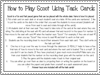 Prefix & Suffix Task Cards and Scoot Game Freebie